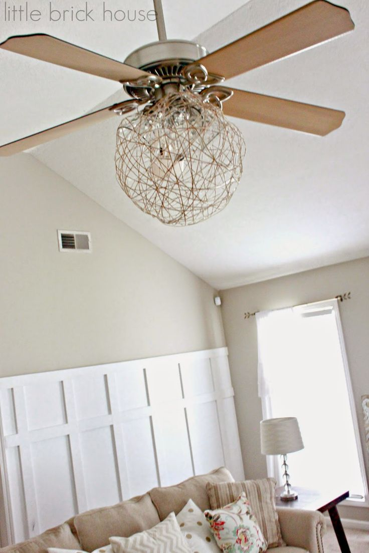 Our Climate Is Tropical, So, We Love Our Ceiling Fans, But Hate The Lights,  I Have A Lamp Shade Covering Mine, But, Love This Ideas | DIY Projects ...