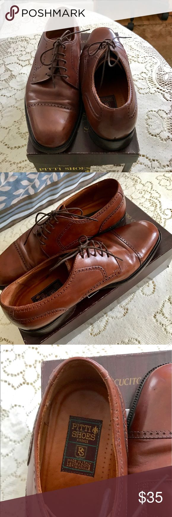 Pitti dress shoes for men Pre-owned great condition, made in Italy. Stored in the box. Captoe oxford tan pitti Shoes Oxfords & Derbys