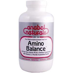 A. Naturals Amino Balance -- 500 g by A. Naturals. $50.83. Food protein is formed by long chains of molecularly bonded amino acids. A. Naturals. Food protein is formed by long chains of molecularly bonded amino acids. The body must first break these molecular (peptide) bonds for amino acid absorption. A. Naturals amino acids are already in their simplest, single, free form, molecular state (no peptide bonds), and can readily be absorbed. Amino Balance is Hypoallergenic, well...