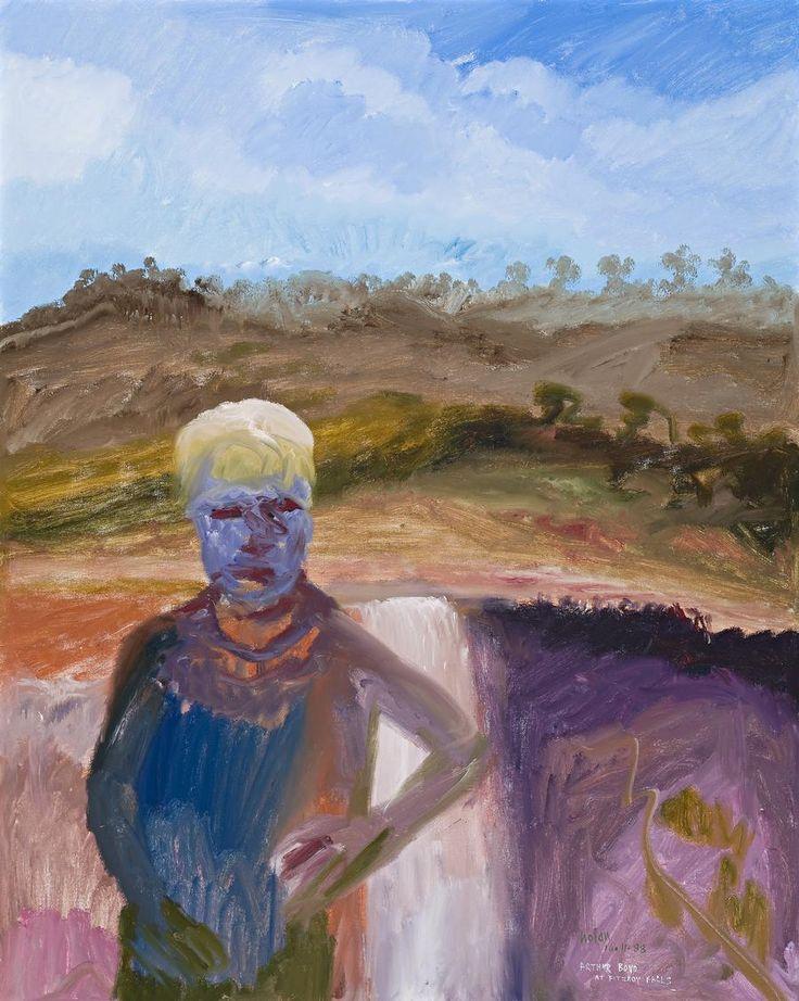 Sidney Nolan (Australian, 1917-1992), Arthur Boyd at Fitzroy Falls, 1988. Oil on canvas, 152 x 121.5 cm.
