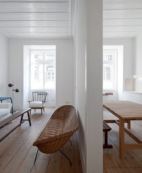 renovated 18th-century rental apartment in Baixa House, Lisbon http://www.remodelista.com/posts/baixa-house-in-lisbon
