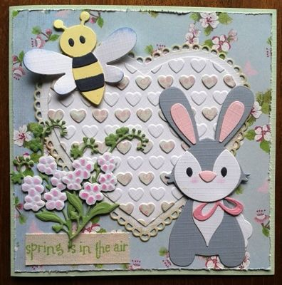 Handmade by Hetty Col1354 Bunny; Col1356 Bee & Lady bird; Cr1307 Craftable Tiny's forget me not