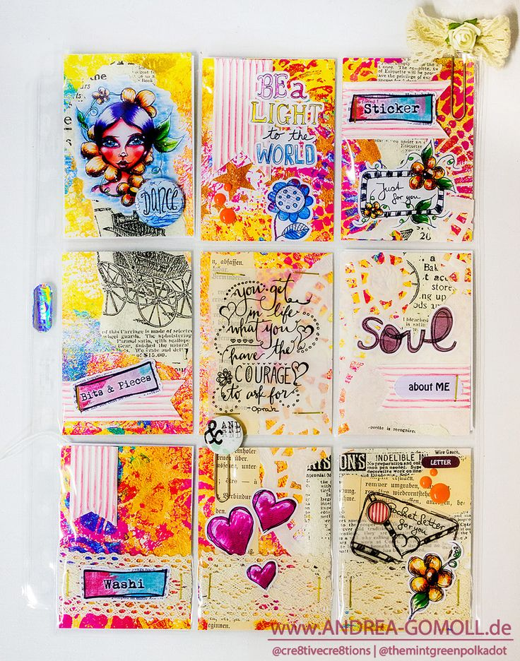 Creative Creations by Andrea Gomoll | Pocket Letters – mixed media style | http://andrea-gomoll.de