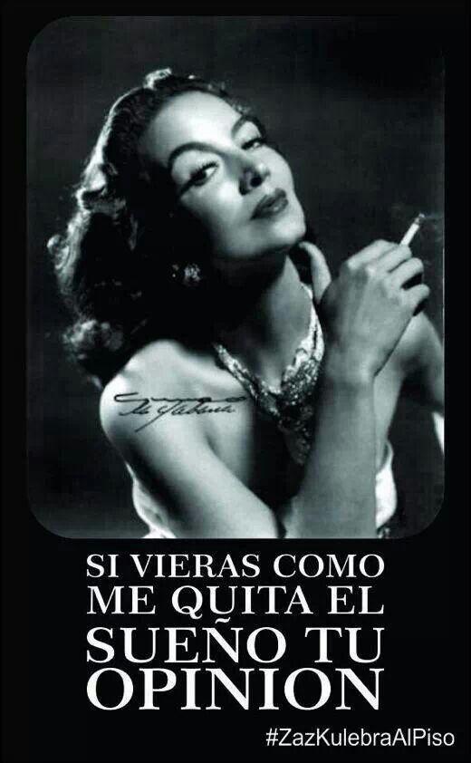 María Félix...