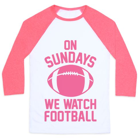 "This cute girls football shirt is the perfect mean girls parody and football quote ""On Sundays We Watch Football."" With a mean girls shirt like this, you'll be all set to watch the big football game on Sunday, or go tailgating, or shotgun some beers and cheer for you favorite football team. This shirt is great for fans of classic movie quotes and funny football shirts. 