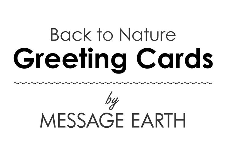 Greeting Cards - Back to Nature  Cover image