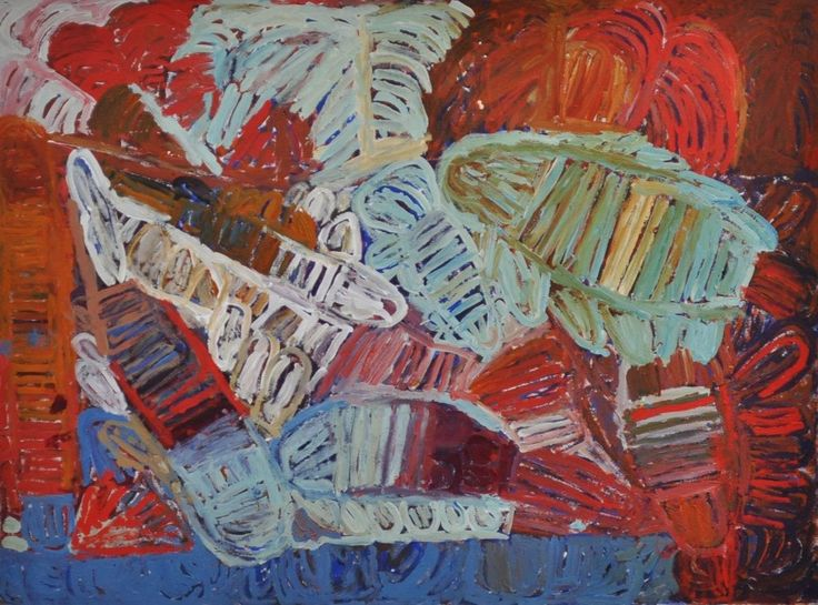 Sonia Kurarra, Martuwarra, 20!4, acrylic paint on canvas, 90 x 120cm. Mangkaja Arts, Aboriginal and Pacific Arts, Sydney.