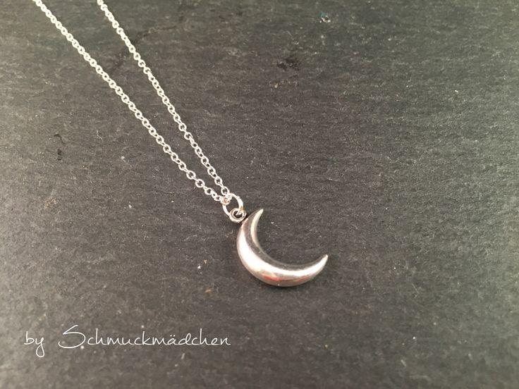 Kette Silber Schlicht Mond