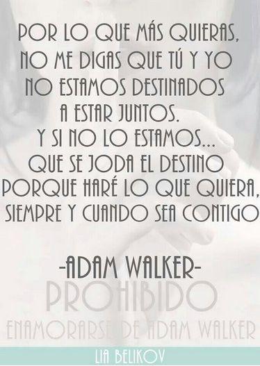 Adam. -Prohibido enamorarse de Adam Walker-