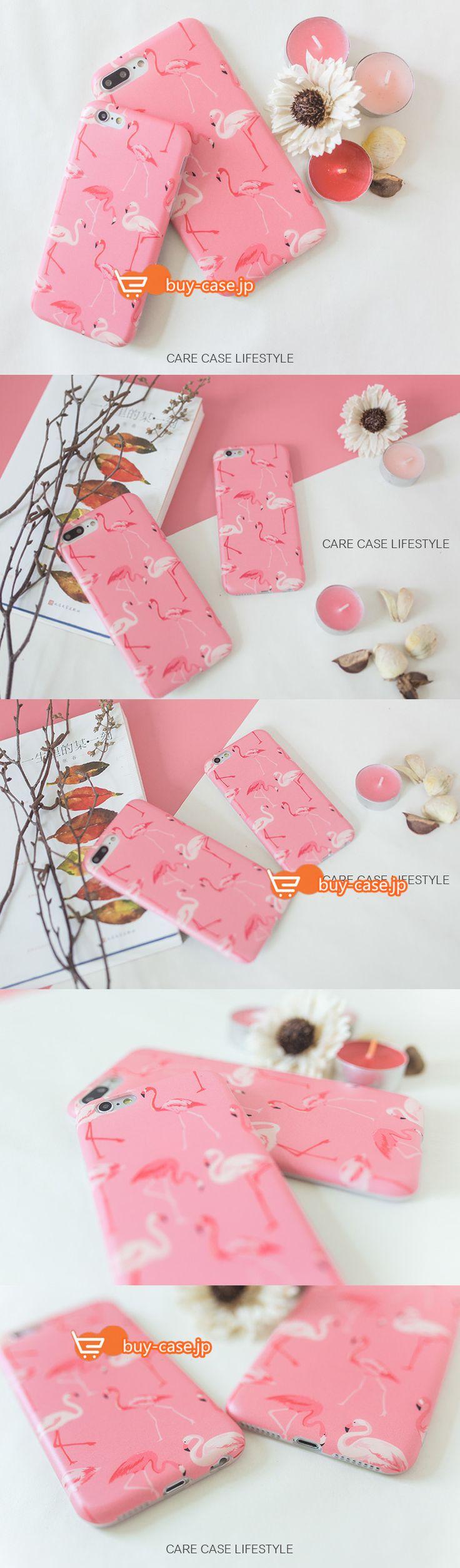 iPhone7オリジナル設計ピンク色粉個性的女性フラミンゴ鳥動物ソフト携帯カバー アイフォン6s/67plusケース
