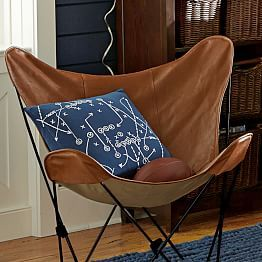 Leather Sling Butterfly Chair