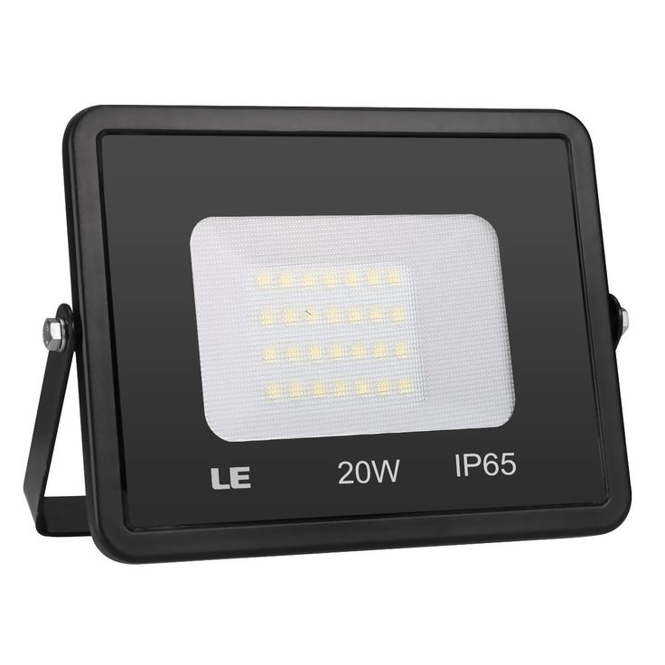 LE 20W LED Outdoor Flood Lights Waterproof IP65, 1600lm, 5000K Daylight White, 200W Halogen Bulb Equivalent, 100° Beam Angle,Super Bright Work Light