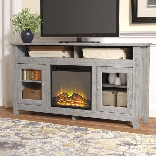 Found it at Wayfair - Isabel Highboy TV Stand with Electric Fireplace