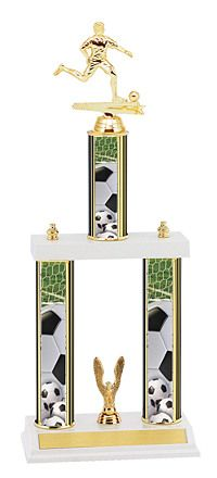 Three Column Soccer Trophy, Trophies, Medals & Pins | Dinn Trophy | Dinn Trophy