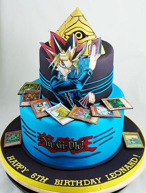 Yugioh Themed Birthday Cake Yugiohcake Childrenscake