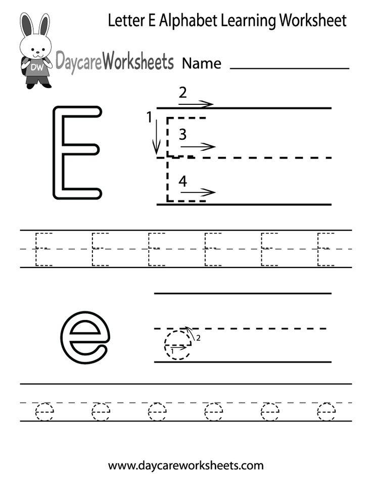 Best 25+ Letter e worksheets ideas on Pinterest ...