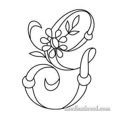 Monogram for Hand Embroidery: G via Mary Corbet