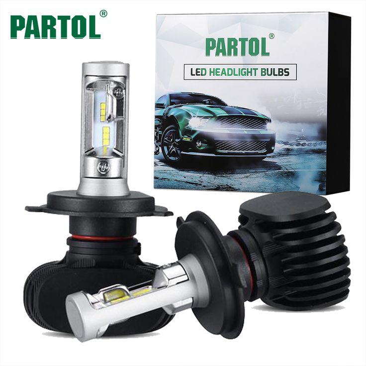 check price partol 50w 8000lm h4 h13 h7 h11 9005 9006 car led headlight bulbs csp chips led headlights #focus #lighting