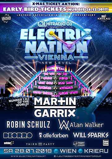 Die SENSATION - Ö3 ELECTRIC NATION VIENNA - OPEN-AIR presents The Number 1 DJ Of The World Martin GARRIX