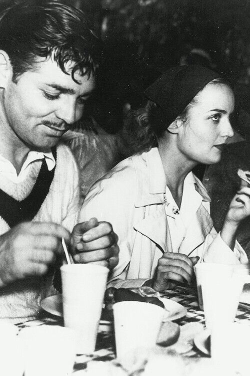Clark Gable & Carole Lombard at the annual MGM picnic -1937