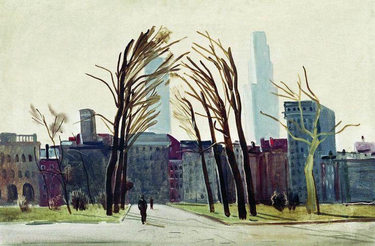 Дейнека. Филадельфия. Старая площадь. 1935