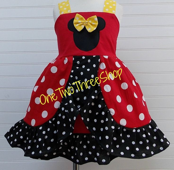 Custom Boutique Clothing Minnie Mouse Med Red Yellow by amacim, $49.99