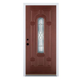 Therma-Tru Benchmark Doors�Center Arch Lite Decorative Mahogany Inswing Fiberglass Entry Door (Common: 36-in x 80-in; Actual: 37.5-in x 81.5-in)