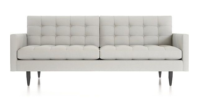 Petrie Midcentury Sofa Crate And Barrel Mid Century Sofa Modern Tufted Sofa Mid Century Loveseat