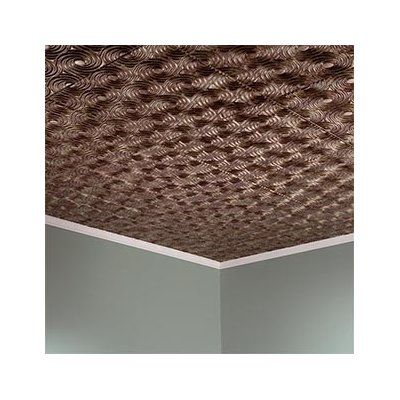 Fasade Cyclone 2 ft. x 2 ft. Lay-In Ceiling Tile in Bermuda Bronze