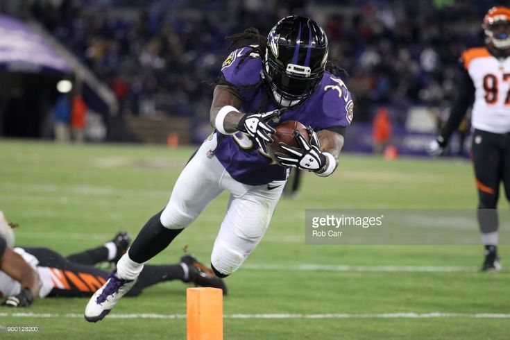 News Photo : Running back Alex Collins of the Baltimore Ravens...