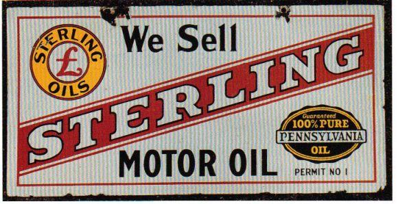 We Sell Sign For Sterling Motor Oil More Porcelain