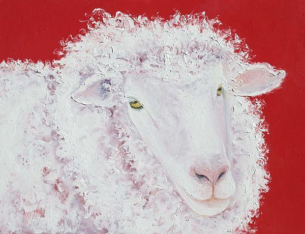 Merino Sheep Art  #kitchenart #countrykitchendecor #frenchcountrydecor