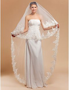 Wedding Veil One-tier Cathedral Veils Lace Applique Edge/Finished Edge. Get awesome discounts up to 70% Off at Light in the Box using Coupons.
