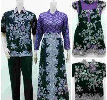 Batik Sarimbit Gamis Marshanda Broklat Ungu Family - Fashion Baju Batik Modern Pria dan Wanita Grosir Batik Terlengkap, Termurah dan Terpercaya