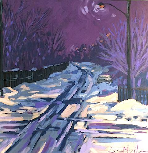 Dufferin Road by Sara Alex Mullen. Ottawa artist, Canadian artist, landscape art, SANTINI GALLERY.