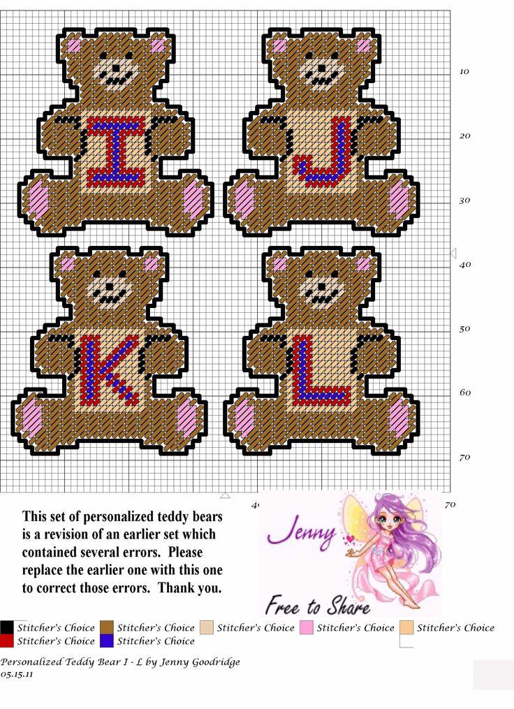 Personalized Teddy Bears I-L