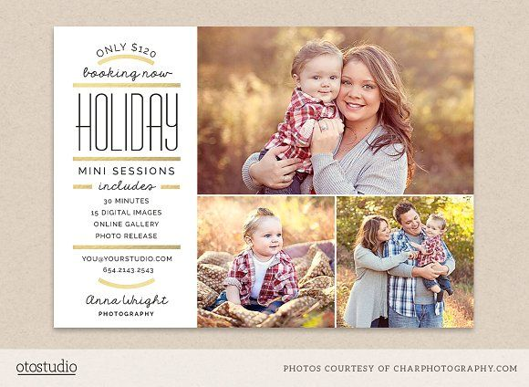 Holiday mini session template by OtoStudio on @creativemarket
