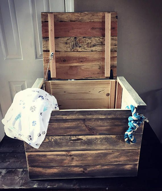 Pallets4Paws on Etsy has lots of awesome items. Check out this Pallet toy bin / upcycled toy chest / toy box / pallet storage