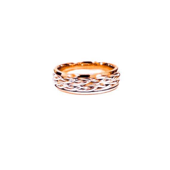 Wedding Band Ring Nautical Rose Gold Wedding by JewelryYourStyle, $990.00