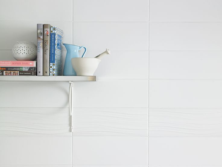 adding feature tiles in the same colour adds interest to white kitchen tiles whilst providing a clean look shown here tonals white u0026 tonals white wave