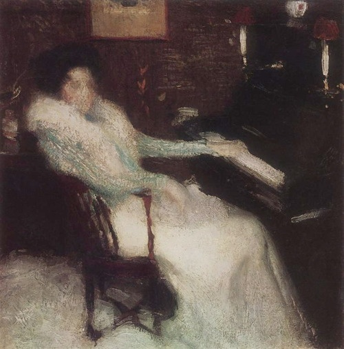 Igor Grabar - Lady by Piano, 1899, Oil on canvas