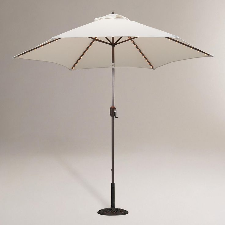 Round Umbrella With Lights. Worldmarket WithOutdoor ...