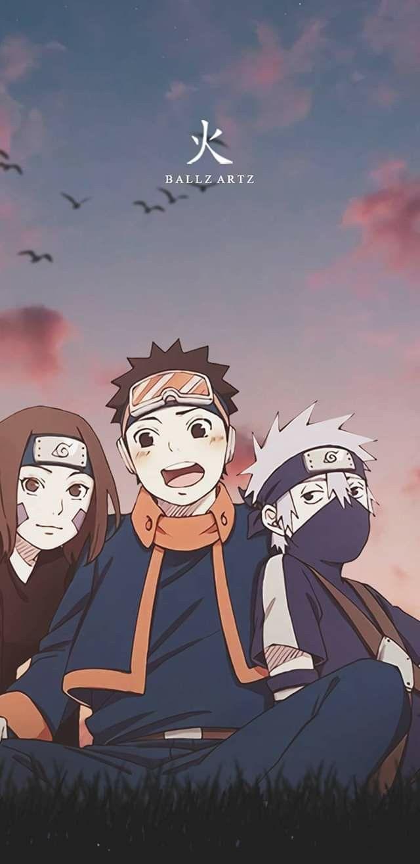 Rin Obito And Kakashi Team Minato Friend Anime Anime Akatsuki Naruto And Sasuke Wallpaper