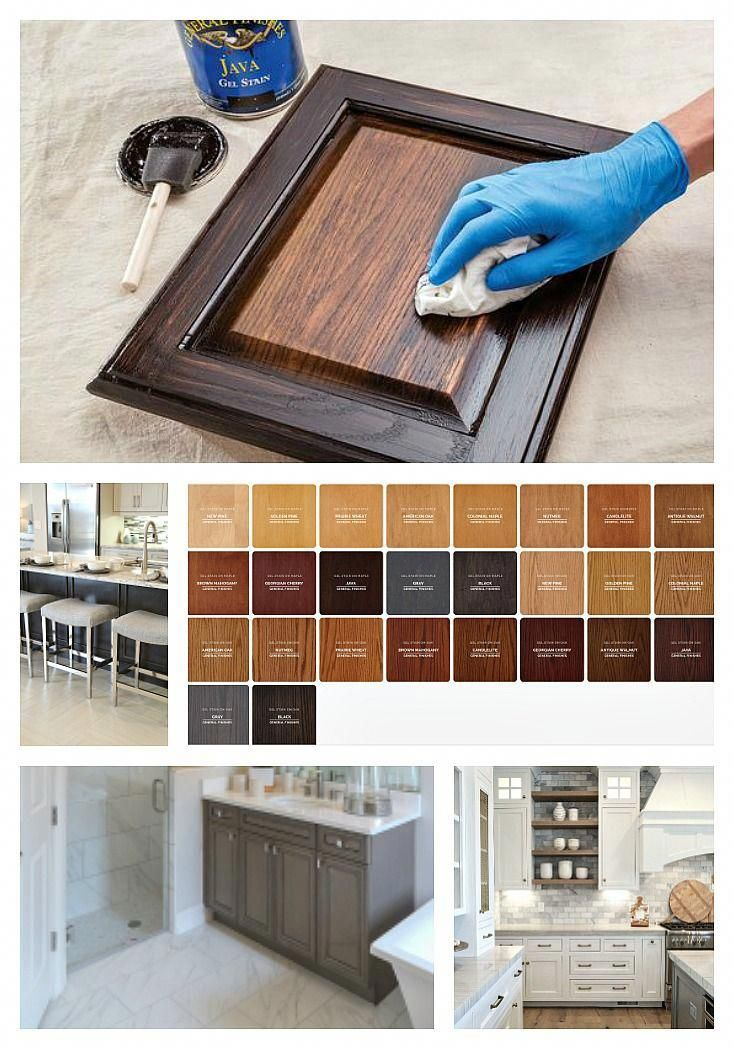 Our Best Tips For Staining Cabinets Or Re Staining Staining Cabinets Antique Kitchen Cabinets Gel Stain Kitchen Cabinets