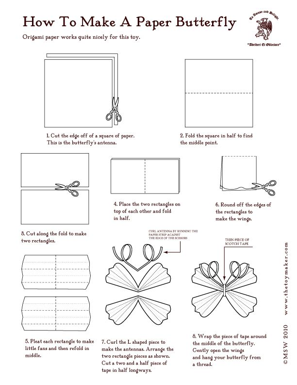 How to make a paper butterfly (with video).