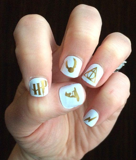 Harry Potter Nail Decals   Harry Potter, Nail Art, Geek, Gift Idea, Girl, Nail Polish