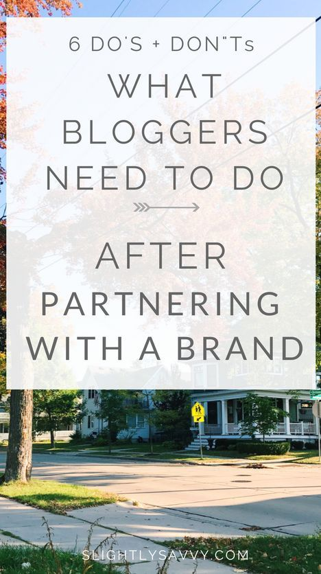 Want to know what to do AFTER you partner with a brand? Here are 6 do's and don'ts for how to wrap up a collaboration. How to work with brands as a blogger, influencer marketing, how to pitch to brands as a blogger, how to connect with brands for sponsored posts