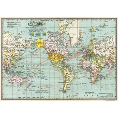 46 best vintage poster prints images on pinterest poster prints world map paper gumiabroncs Choice Image