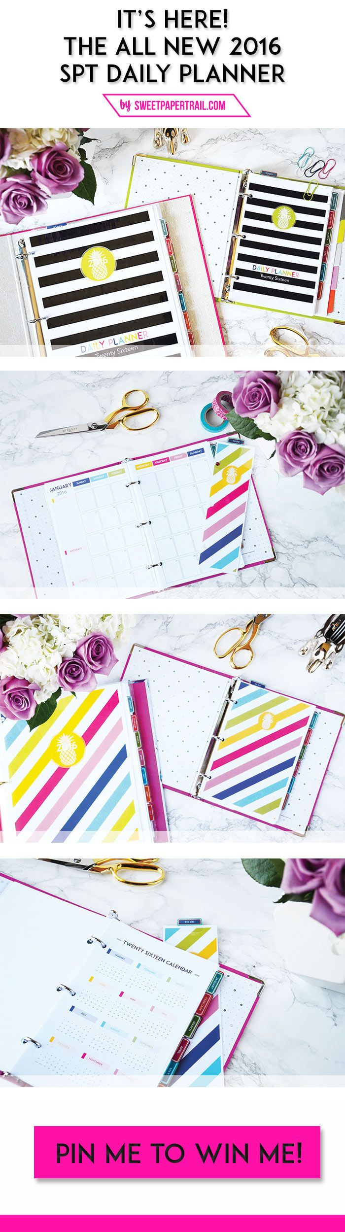 Pin me to WIN me! The 2016 SPT Daily Planner