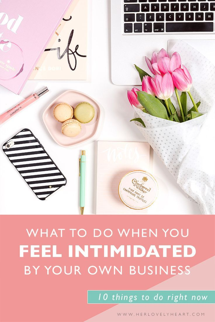 Do you feel intimidated by your own creative business? Here are 10 things you can do right now to beat overwhelm.